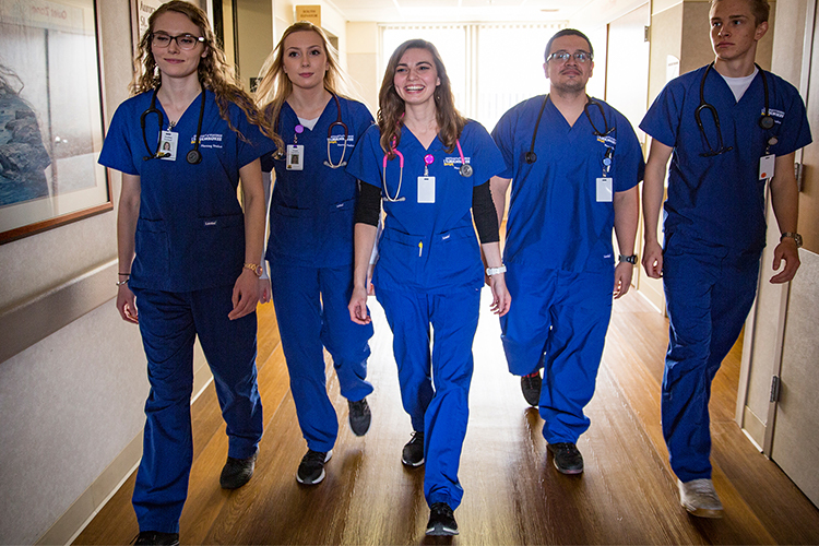 UWM nursing students