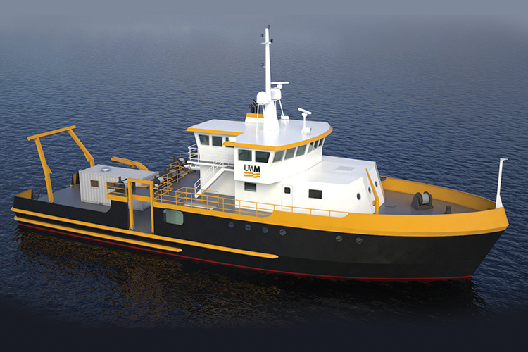 Artist's rendering of new research vessel