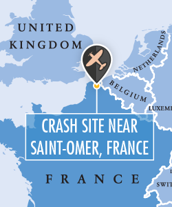Map of the crash site in France