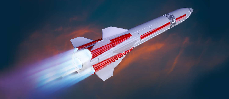 Illustration of a rocket launching