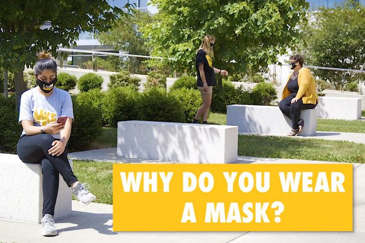 Students wearing masks