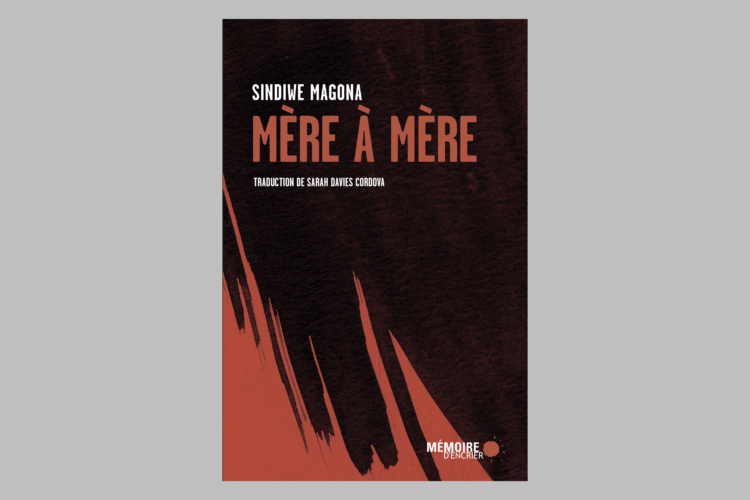 Book cover of Mére á Mére on gray background