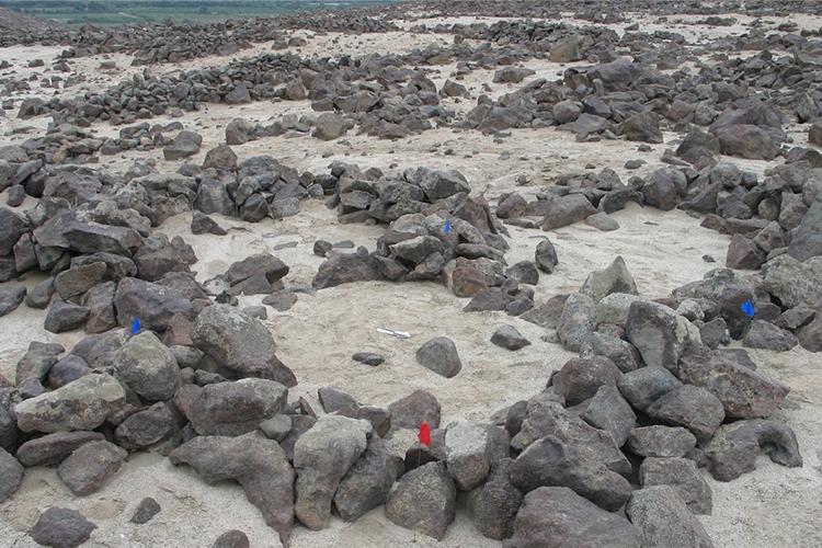 Photo of a rocky and sandy lansdscape.