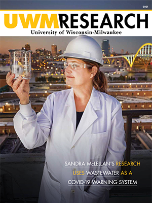 UWM Research 2021 magazine cover