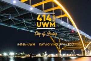 Hoan Bridge behind the words 414 for UWM