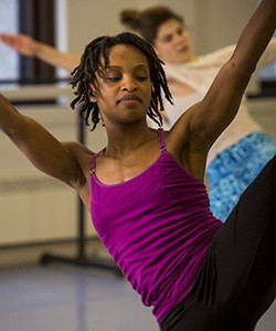 Davalois Fearon started dancing as a youngster in Jamaica. (UWM Photo/Derek Rickert)