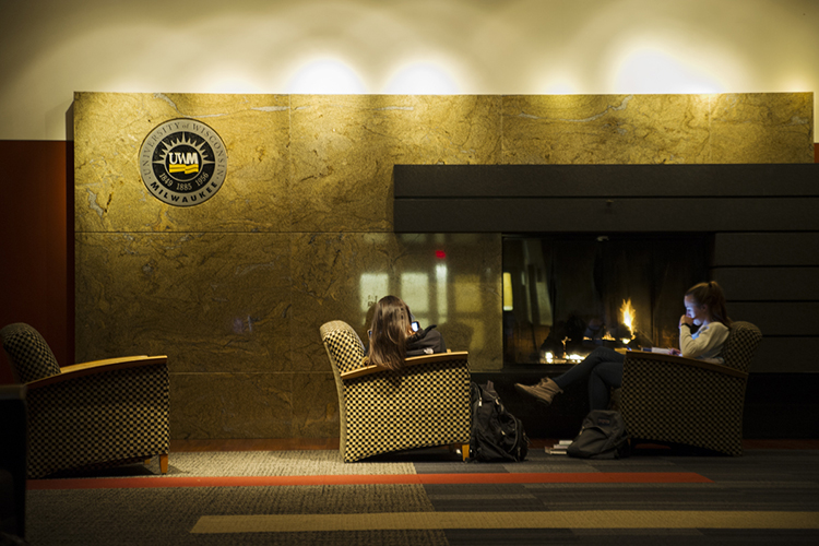 UWM Student Union Fireside Lounge.