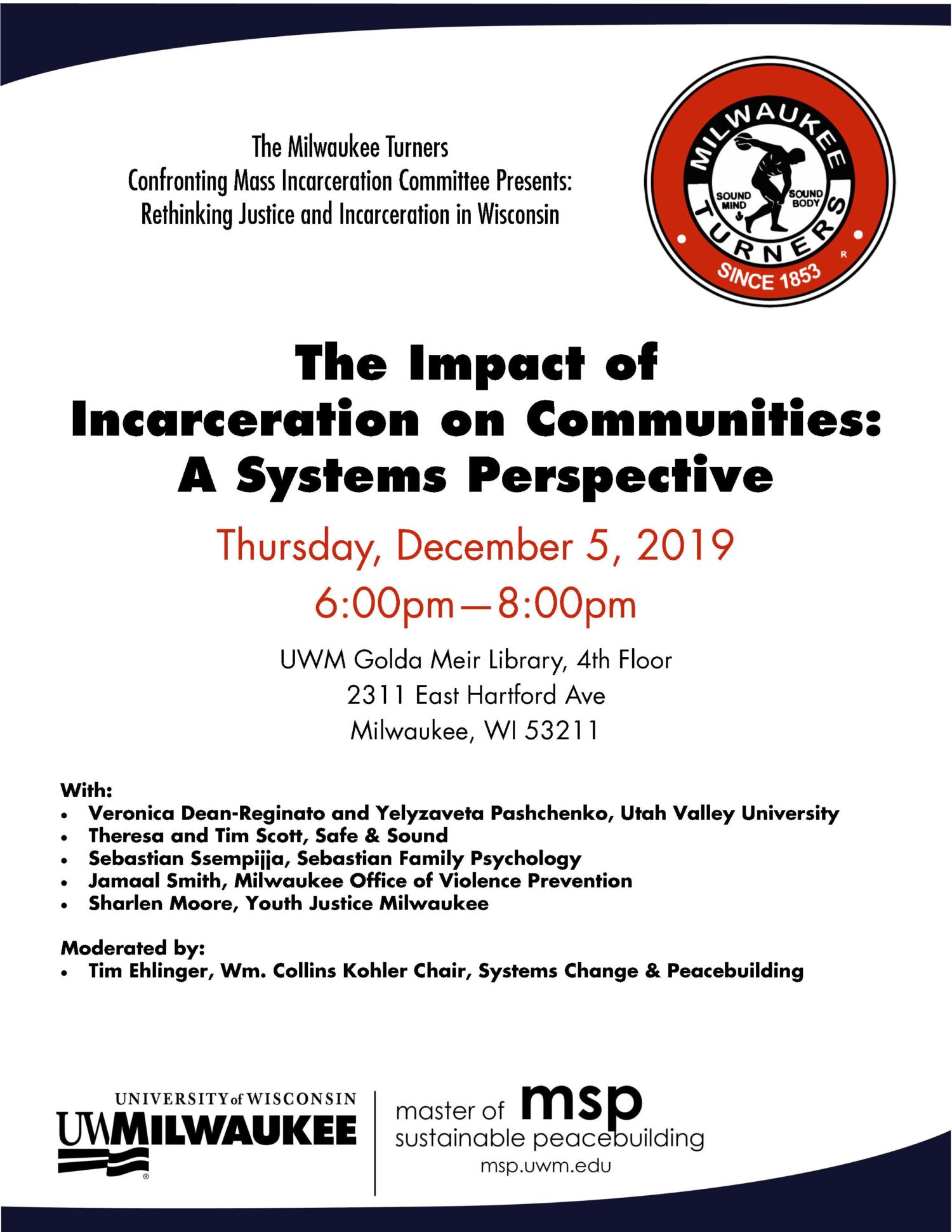 Details For Event 17516 – The Impact of Incarceration on Communities: A Systems Perspective