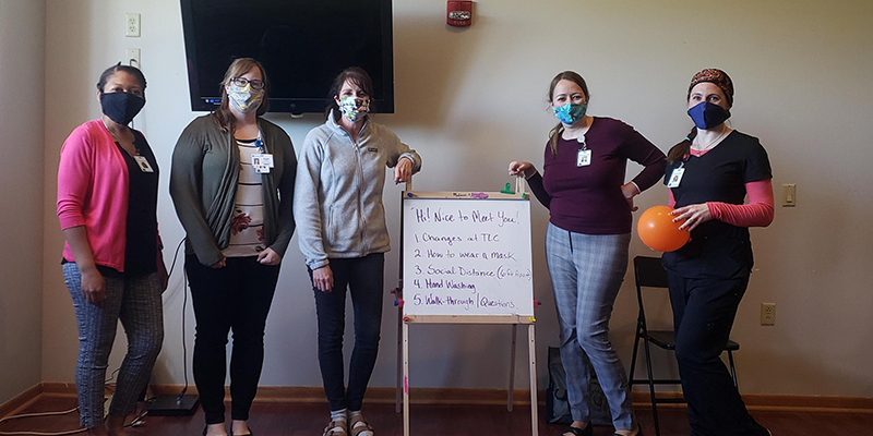 UWM DNP Students Making a Difference at the Transitional Living Center