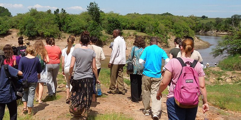 Global Health students studying abroad in Africa