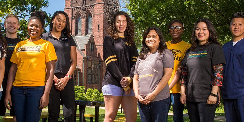 Population Health, Public Health, students at UWM outside