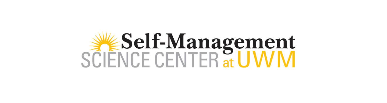 UWM Self-Management Science Center logo black, gold, gray colors