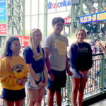 UWM College of Nursing Dean and Students recognized at Milwaukee Brewers Game on July 25