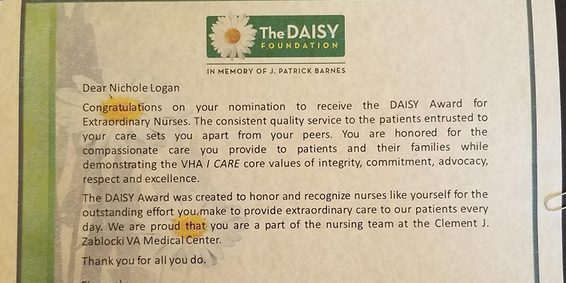 Daisy Award Recipient and Student: Nichole Logan recareering to discover a soul-satisfying journey