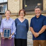 Al Washko (St. Hyacinth Food Pantry); me; Nancy Yarnell (Food Security for America); Steve Pollock (St. Hyacinth Food Pantry); and Young Cho (UWM ZSPH). (Photo credit: Derek Johnson)