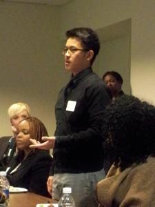 Moua presenting photo