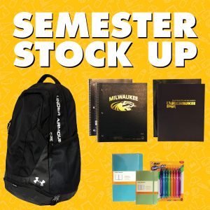 Stock up on school supplies for the semester.
