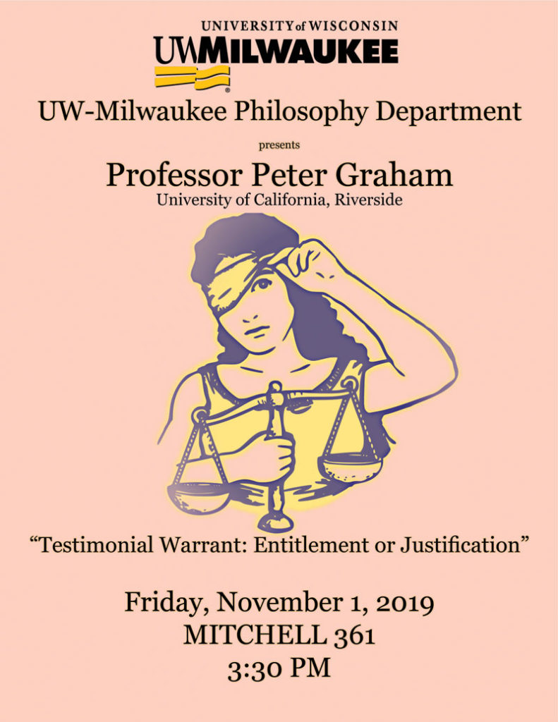 Flyer image for Professor Peter Graham Colloquium