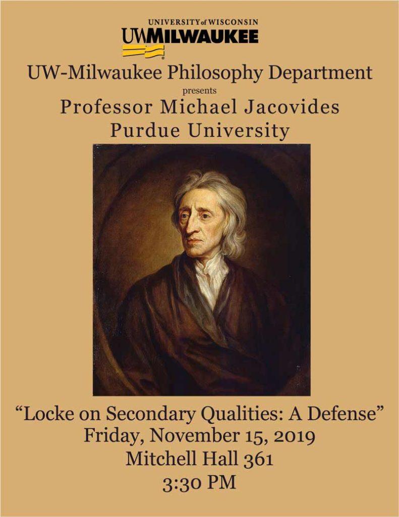 Locke on Secondary Qualities
