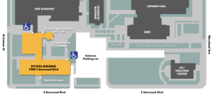 Planetarium and Physics Building Map