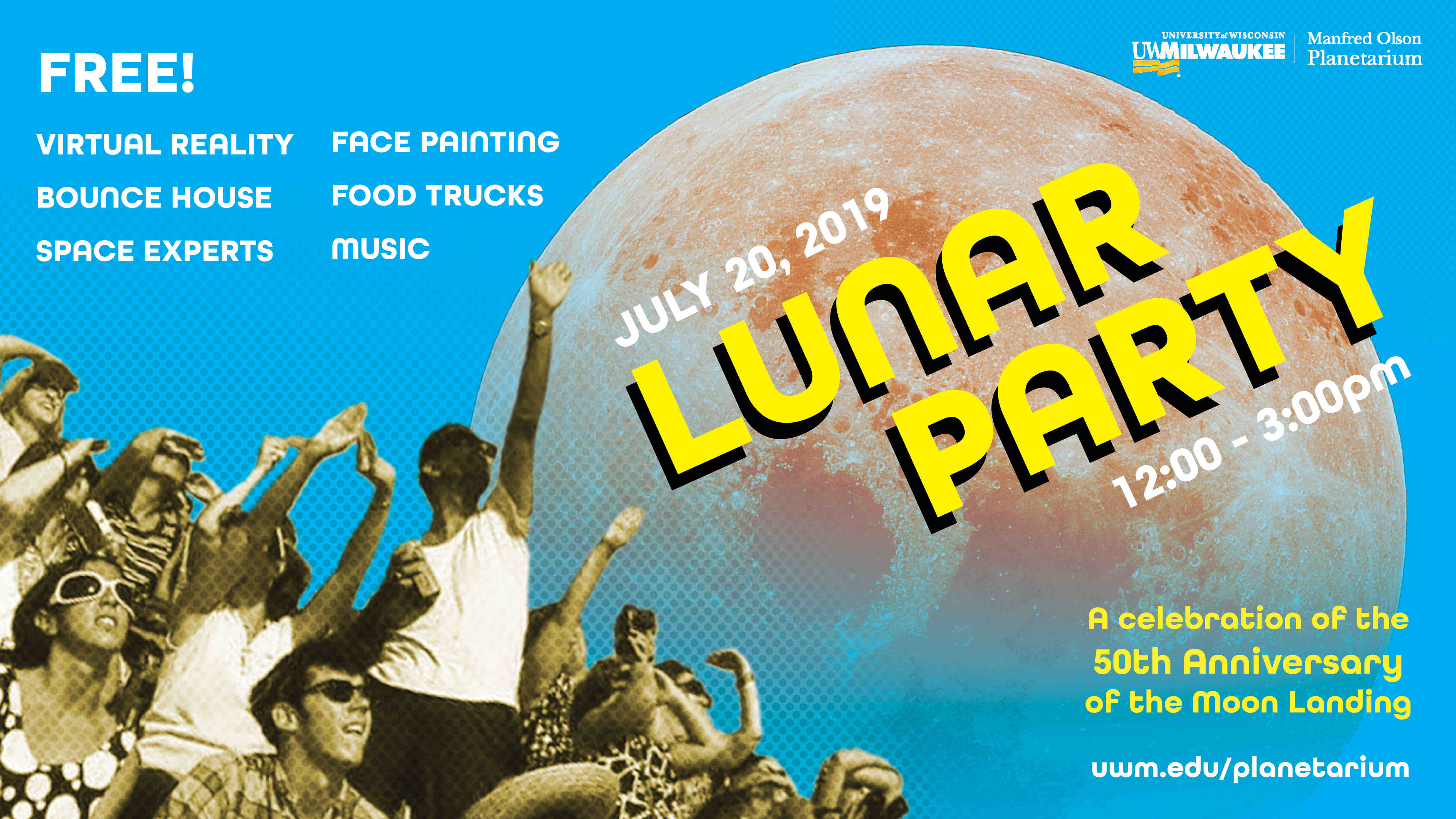 Lunar Party: July 20, 2019 at 12 pm