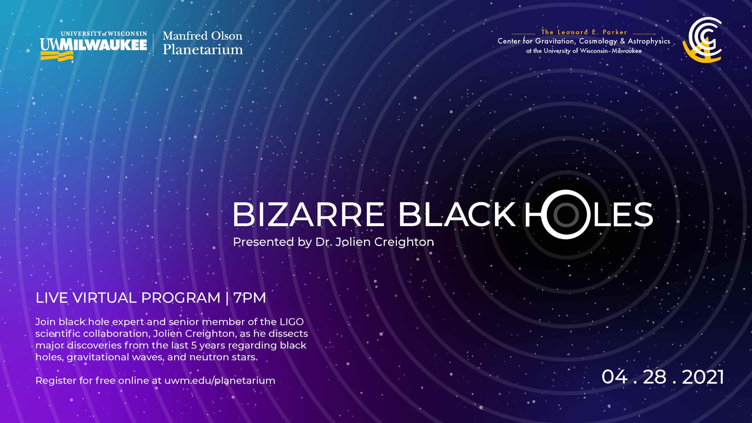 Bizarre Black Holes, April 28, 2021 virtual program