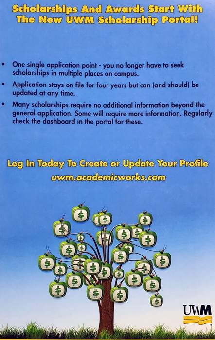 Visit uwm.academicworks.com to view scholarships and awards