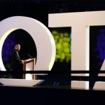 Photo of Roger O. Smith presenting the Eleanor Clarke Slagle Lecture at the American Occupational Therapy Association (AOTA) national conference.