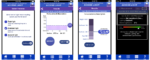 Four screenshots demonstrating the application design and measurement features of Access Light