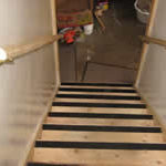 Photo of an accessible stairwell in Milwaukee Idea Home