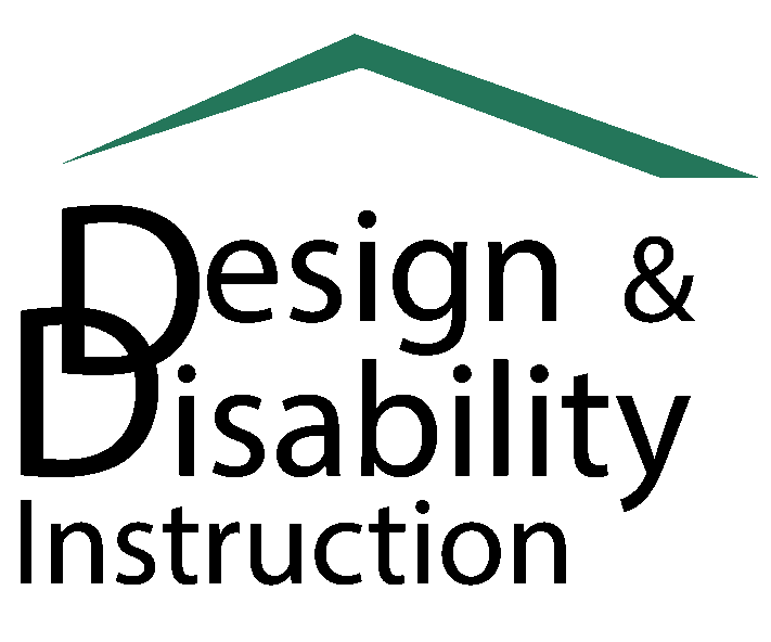 Design & Disability Instruction Logo black and white