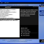 Screenshot of AACFACT presented in XFACT interface