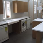 Photo of an accessible kitchen in Milwaukee Idea Home