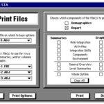Screenshot of OT FACT print files screen