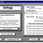 Screenshot of OT FACT settings screen