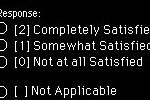 Screenshot of the trichotomos rating system used in OTFACT to rate satisfaction