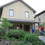 Photo of the front door of Milwaukee Idea Home