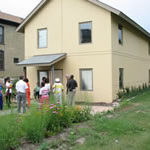 Photo of a backyard tour of Milwaukee Idea Home