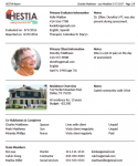 Screenshot of HESTIA Report Module screen