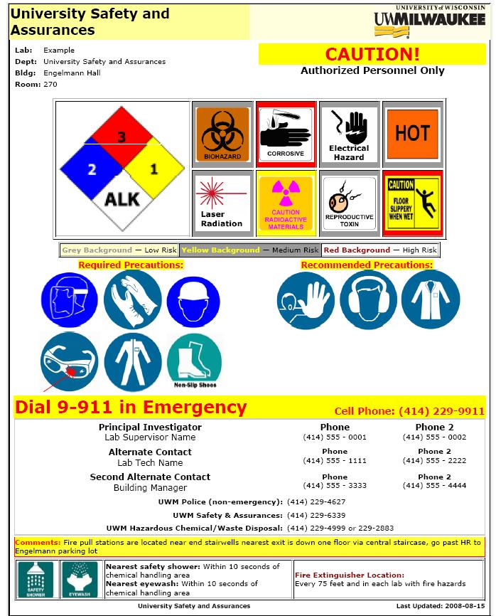 Lab Safety Signs And Postings Faa Usa Safety And Health