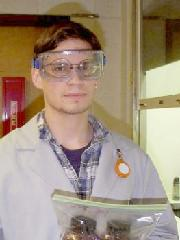 Lab Person Wearing Safety Goggles