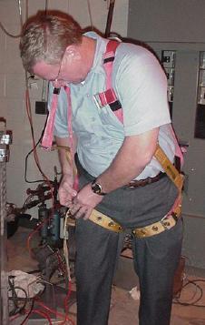 Employee Adjusting Harness