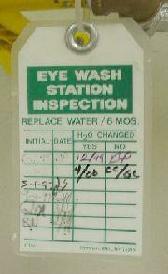 Eyewash Inspection Tag