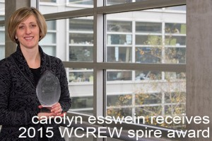 Carolyn Esswein receives 2015 WCREW Spire Award