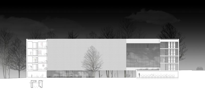 Section through Residential Courtyard