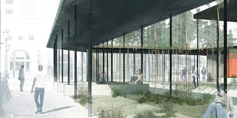 Desolate Plaza Pavilion