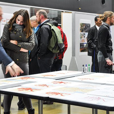 Bus & Rapid Transit Workshop Urban Planning Students publicly present their work in The Commons