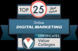 Top 25 Best Value Online Digital Marketing Certificates for 2021