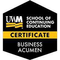 Digital Badge for Business Acumen Certificate
