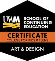 Digital Badge for Art & Design Certificate Track